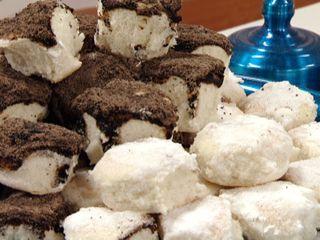 Tortitas negras y blancas