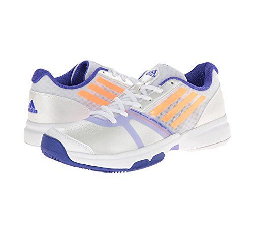 adidas Performance Women's Galaxy Allegra III Tennis Shoe, White/Flash  Orange/Night Flash, M US * Find out more about the great product at the  image link.