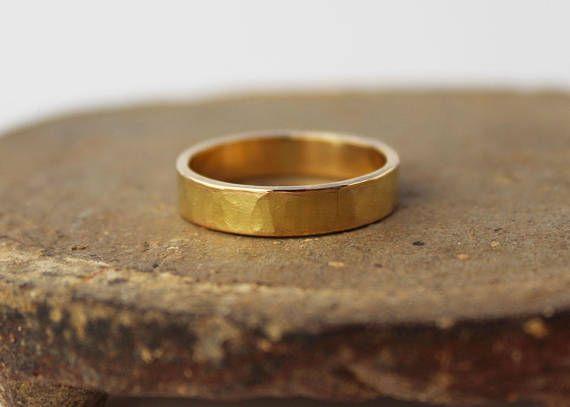 Onwijs 18k gouden bruiloft band. 18k gouden ring 5mm. Solid gouden OL-25