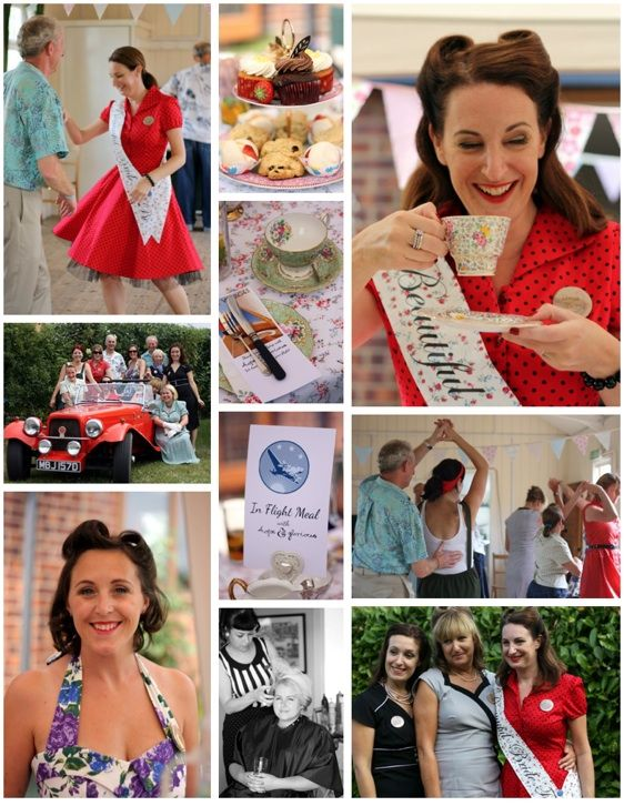 A glorious 50's hen party affair perfect for the vintage hen or a 50s styled party. A 50s themed party