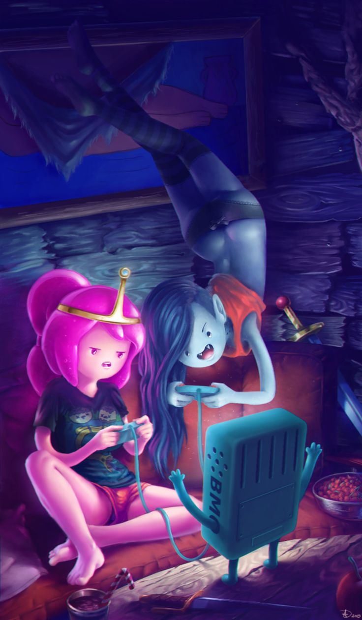 - Adventure Time - Princess Bubblegum and Marceline