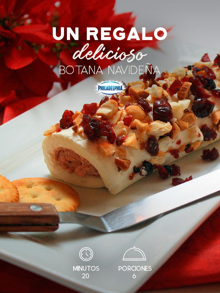Para celebrar junto a los que más quieres no hay nada como esta Botana navideña. #recetas #receta #quesophiladelphia #philadelphia #crema #quesocrema #queso #comida #cocinar #cocinamexicana #recetasfáciles #recetasPhiladelphia #recetasdecocina #comer #botana #navideña #navidad #botanas #pasas #frutossecos #recetasbotanas #recetasnavidad