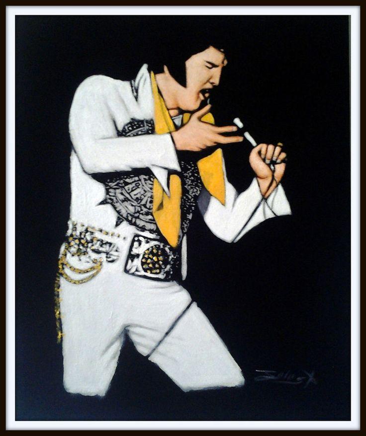 Elvis Presley | National Portrait Gallery  |1977 Elvis Painting