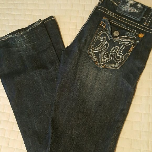 *SALE*MEK DENIM DISTRESSED JEANS NWOT⭐ MEK DENIM BOOT CUT distressed jeans NEW. NEVER WORN. (NWOT) Size 29/34 Dark distressed denim 98% Cotton 2% Spandex FINAL PRICE ☆PRICE DROP  *NO TRADES PLEASE * MEK Jeans Boot Cut