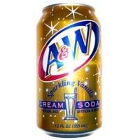 A & W Cream Soda - Get it on My American Market #aandw #aw #creamsoda #soda #rootbeer #can #drinks #myamericanmarket #myam #americain #creme #boisson #cannette