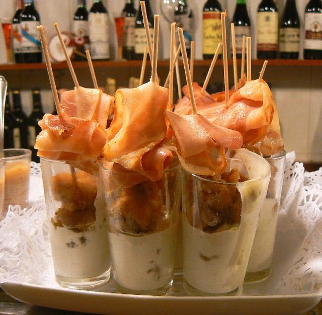 Pintxos in the Basque Country, Spain: Pintxos in the Basque Country: Lamb, Bacon & Roquefort Sauce