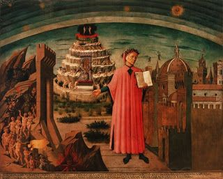 """Here is a painting of Dante's Inferno for those who are reading Dan Brown's new novel """"Inferno: Dante's Inferno Botticelli 