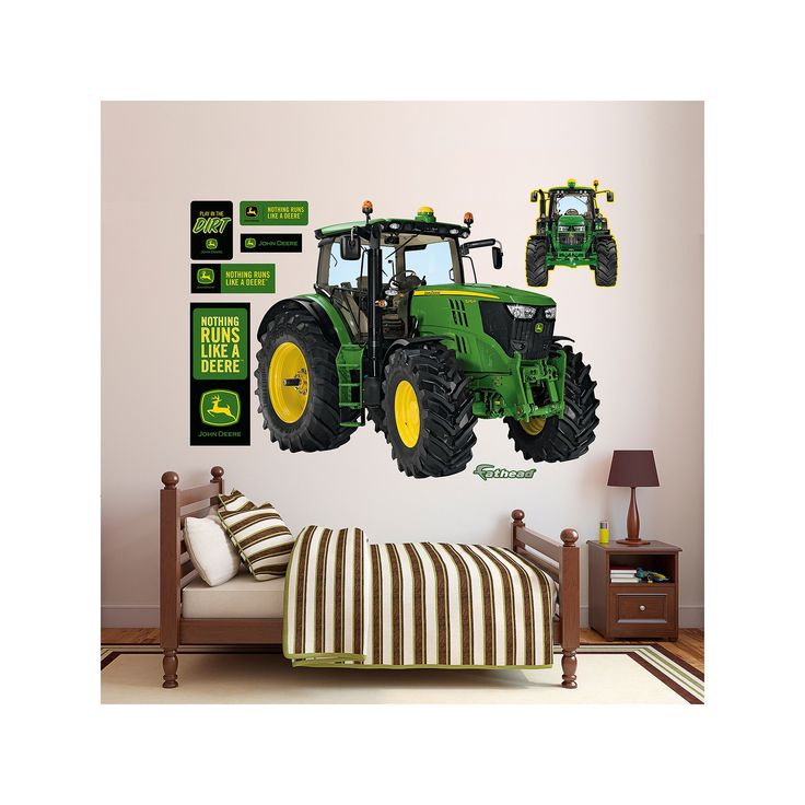 John Deere 6210R Tractor Wall Decals by Fathead, Multicolor