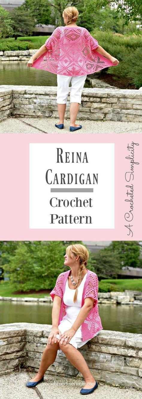 Crochet Pattern - Reina Cardigan by A Crocheted Simplicity
