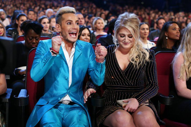 Pin for Later: 24 Brilliant Backstage People's Choice Awards Moments Frankie Grande couldn't hold in his excitement for favorite album winner Meghan Trainor. Pictured: Meghan Trainor and Frankie Grande
