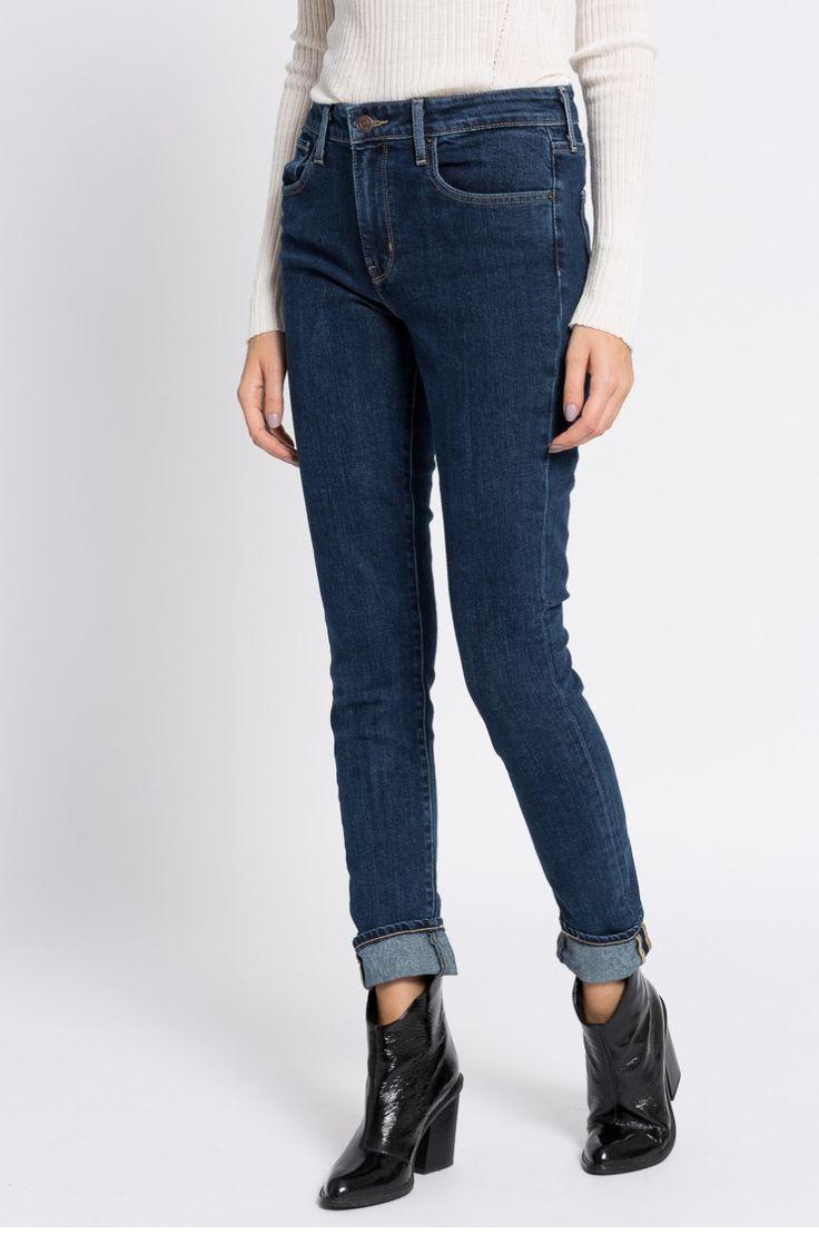 Cumpără Levi's - Jeansi High Rise Skinny Core bleumarin 4940-SJD165. Expediere gratuită de la 150 RON. 30 de zile pentru returnare. 10% reducere pentru membrii AC.