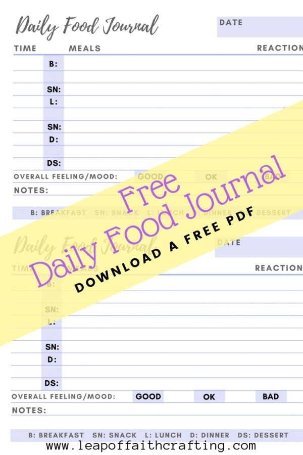 Food Diary Pdf Grab A Free Printable To Keep Track Of Your Food