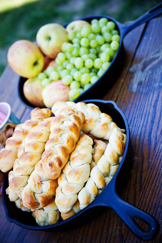 """Braided bread, also for a Tangled party.  Would work for a general fairy tale or """"princess"""" party also."""