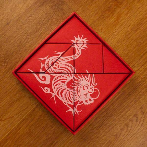Dragon Tangram on Behance