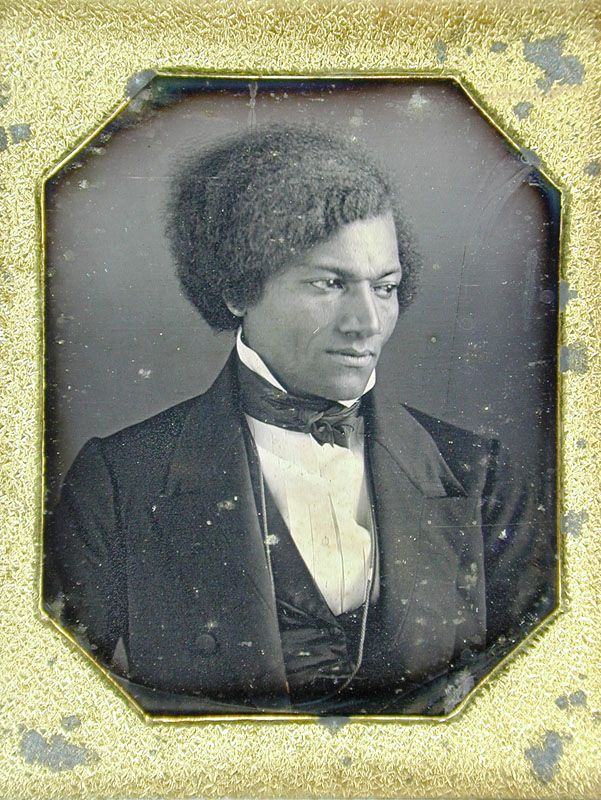 Portrait of author, orator, and abolitionist Frederick Douglass around the age of 22, Pennsylvania, United States, 1840, photographer unknown.
