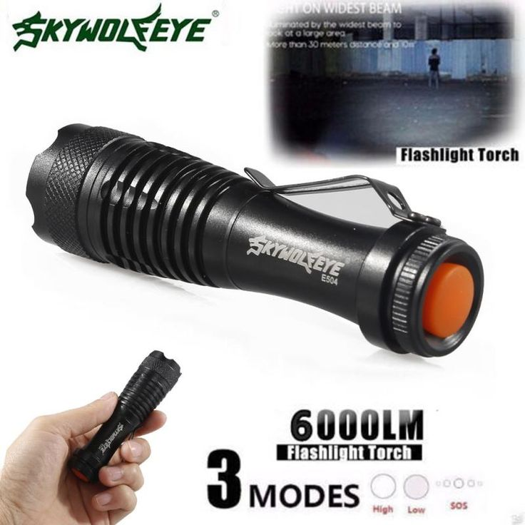 DC 22 Shining Hot Selling Drop Shipping   2000LM CREE Q5 AA/14500 3Mode ZOOM LED Super Bright Flashlight MINI Police Torch #Affiliate