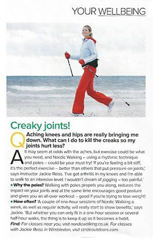 Magazine Article about the benefits of Nordic Walking
