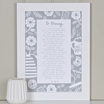 'A Letter To Grandmother' Poem Grey
