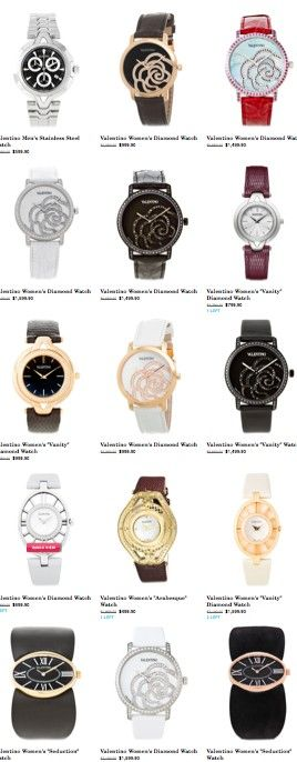 Want! Valentino watches