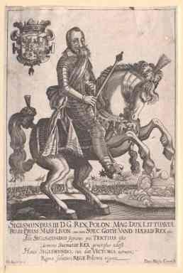 Lietuvos didžiojo kunigaikščio ir Lenkijos karaliaus Žygimanto Vazos (1566–1632) portretas. Austrijos Nacionalinė biblioteka. / Portrait of Grand Duke of Lithuania and King of Poland Sigismund Vasa (1566–1632). National Library of Austria.
