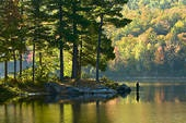 """Taylor Lake in Gatineau Park. It's considered to be """"semi- wilderness"""" camping.  There are two other lakes to camp at as well: a family campsite and campsites that you can only access by canoe.  Gatineau Park is gorgeous and so close to Ottawa."""