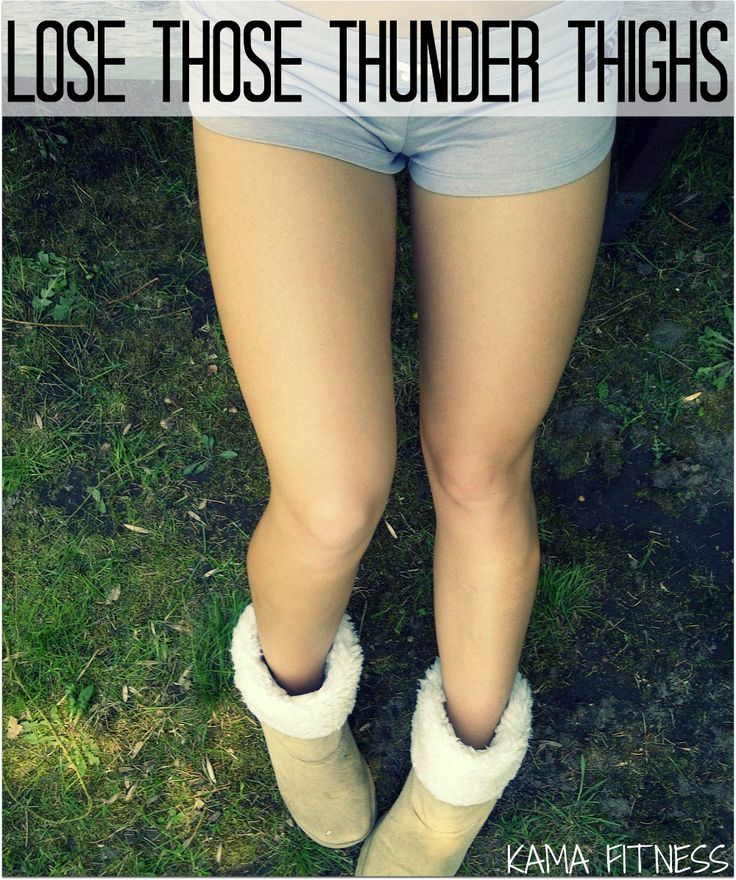 how to get rid of thunder thighs in a week