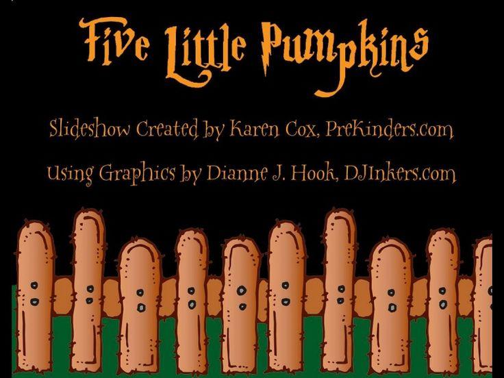 five-little-pumpkins by Karen C via Slideshare
