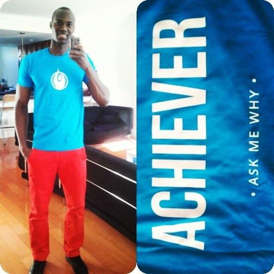 .@awaroyalfit looking good and was the 1st person we saw w/ the YOR Best Body ACHIEVER shirt