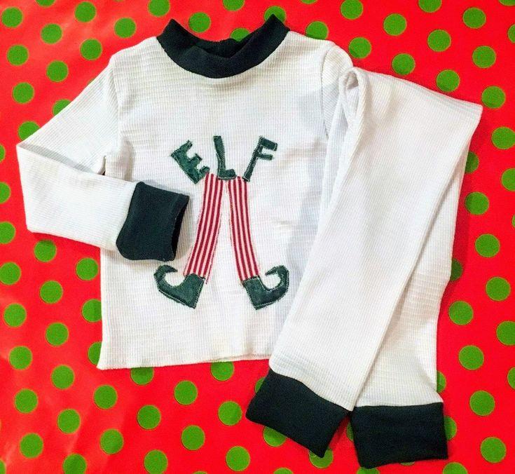 Excited to share the latest addition to my #etsy shop: Christmas pajamas, thermal pajamas, unisex pajamas, Elf pajamas