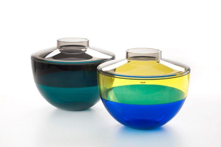 OGGETTI AL TOP, DALLA TAVOLA AL SALOTTO | Shibuya di Kartell | Agence Pillet traduce la plastica in un materiale dall'eleganza luminosa e veste con sfumature di tendenza due ciotole-vasi. | #accessori #cucina #tavola #bicchieri #casa #design #posate @kartelldesign |