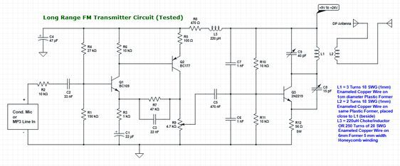 Long Range Fm Transmitter Wiring - Wiring Diagram Database