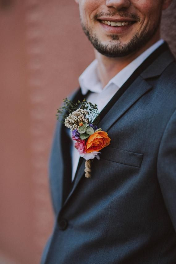 Romantic corsage Wedding accessories Groom corsage Wedding corsage for groom Grooms boutonniere Wedding feather Wedding accessories