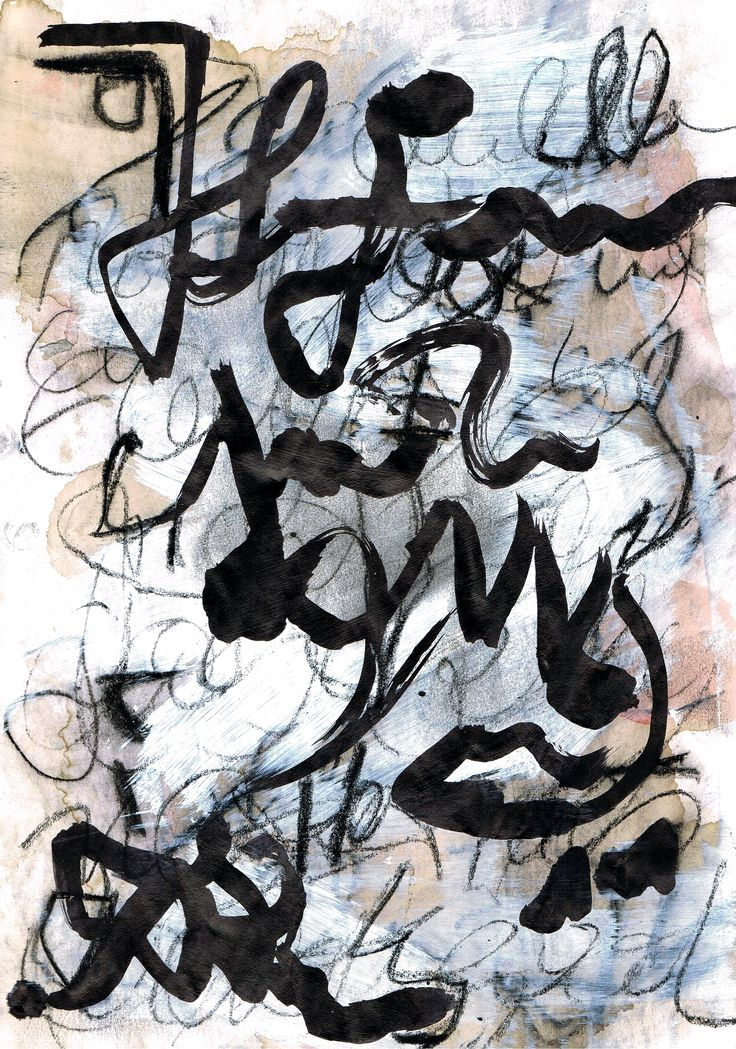 asemic writing - by mila blau