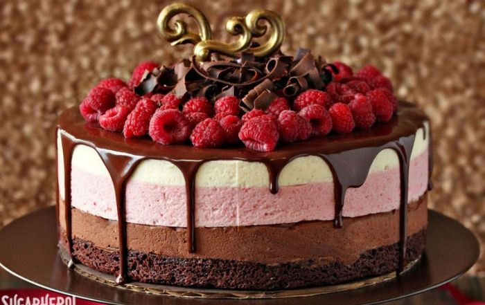 Chocolate Raspberry Mousse Cake