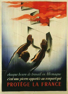 Affiche de propagande vichyste pour le travail en Allemagne
