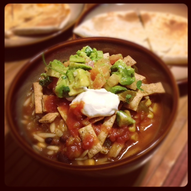 Vegetarian tortilla soup. # Pin++ for Pinterest #