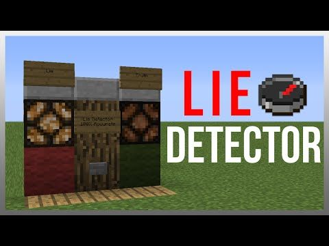Minecraft 1.10: Redstone Tutorial - Lie Detector! (100% Accurate) - YouTube