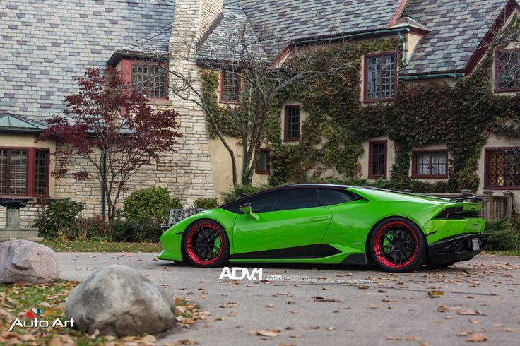 Verde Mantis #Lamborghini Huracan with ADV005 M.V2 SL Series #Wheels by The Auto Art  #cars #supercars #sportscars #exotics #v10 #design #luxury #rims #forgedwheels #forgedrims #adv1  More from ADV.1 >> http://www.motoringexposure.com/featured-fitment/adv1/