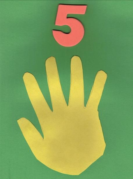 Simple Number 5 Craft