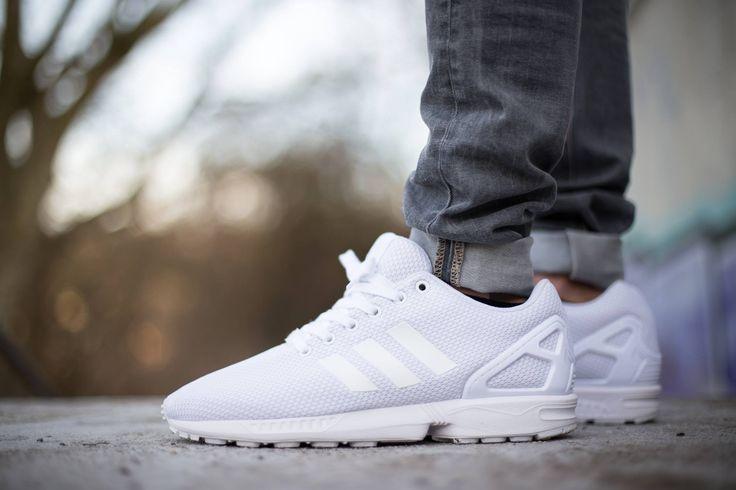 adidas originals zx flux white mens