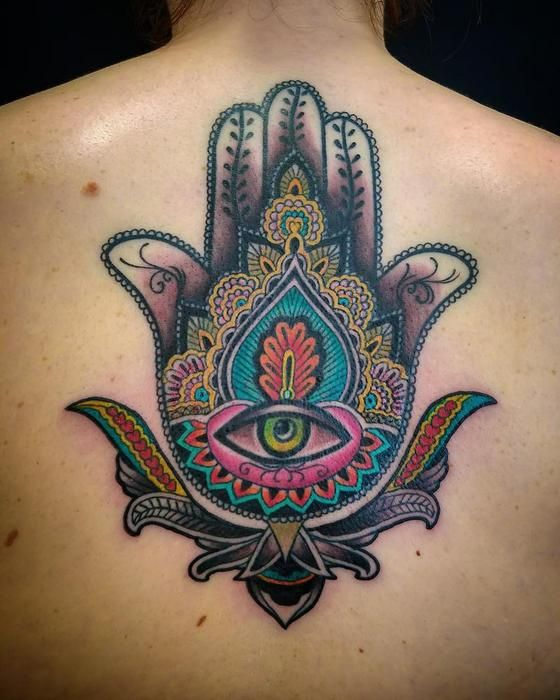Hamsa Tattoo by Adam Sky Resolution Tattoo San Francisco California