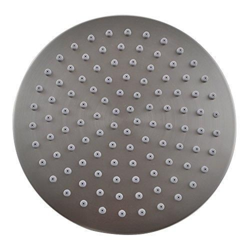 KES J203 ALL METAL 8-Inch Shower Head Fixed Mount Rainfall Style Stainless Steel Brushed Nickel