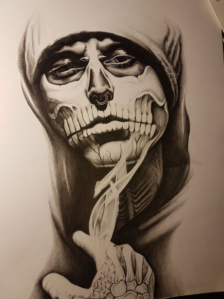 Rick Genest - Pencil Drawing by CassandraWilson