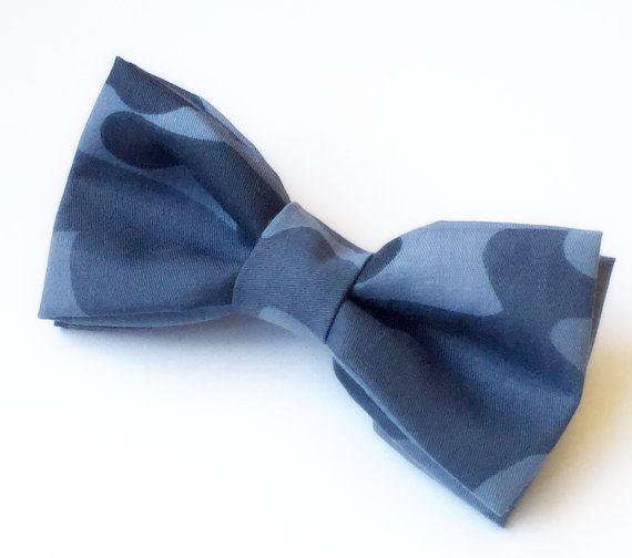Blue Camo Bow tie by FlyTiesforFlyGuys