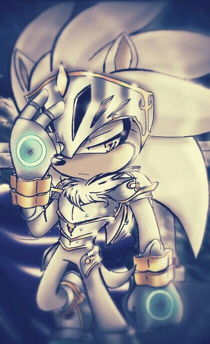 Silver the Hedgehog - Sonic and the Black Knight - Sir Galahad Artwork