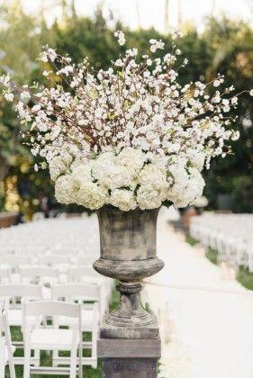 Glam floral arrangement wedding decor