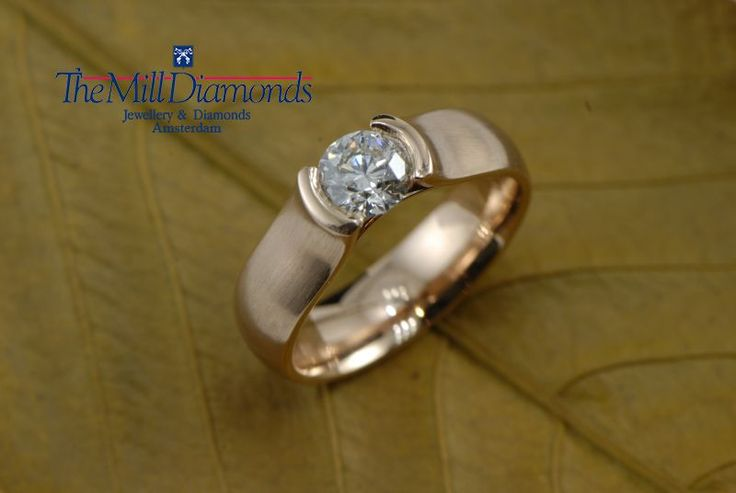 contemporary solitaire engagement rose-gold