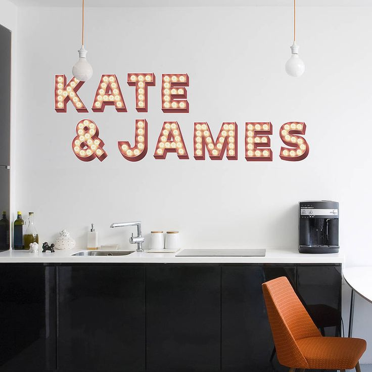 wall stickers 'retro cinema marquee letters' by oakdene designs   notonthehighstreet.com