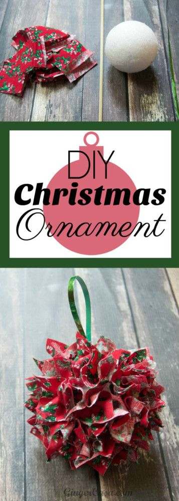 Here's a great way to have kids create gifts for special people in their lives. These DIY Fabric Christmas Ornaments are easy to make!