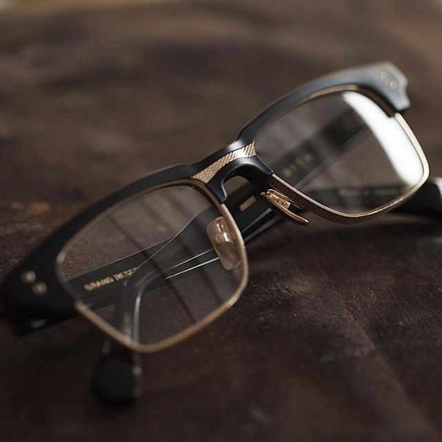 The Grandreserve-Two is a Dita classic featuring a matte black frame, 12k  gold, and a mix of titanium and custom acetates.  shoclifestyle… f45309ec4e6e